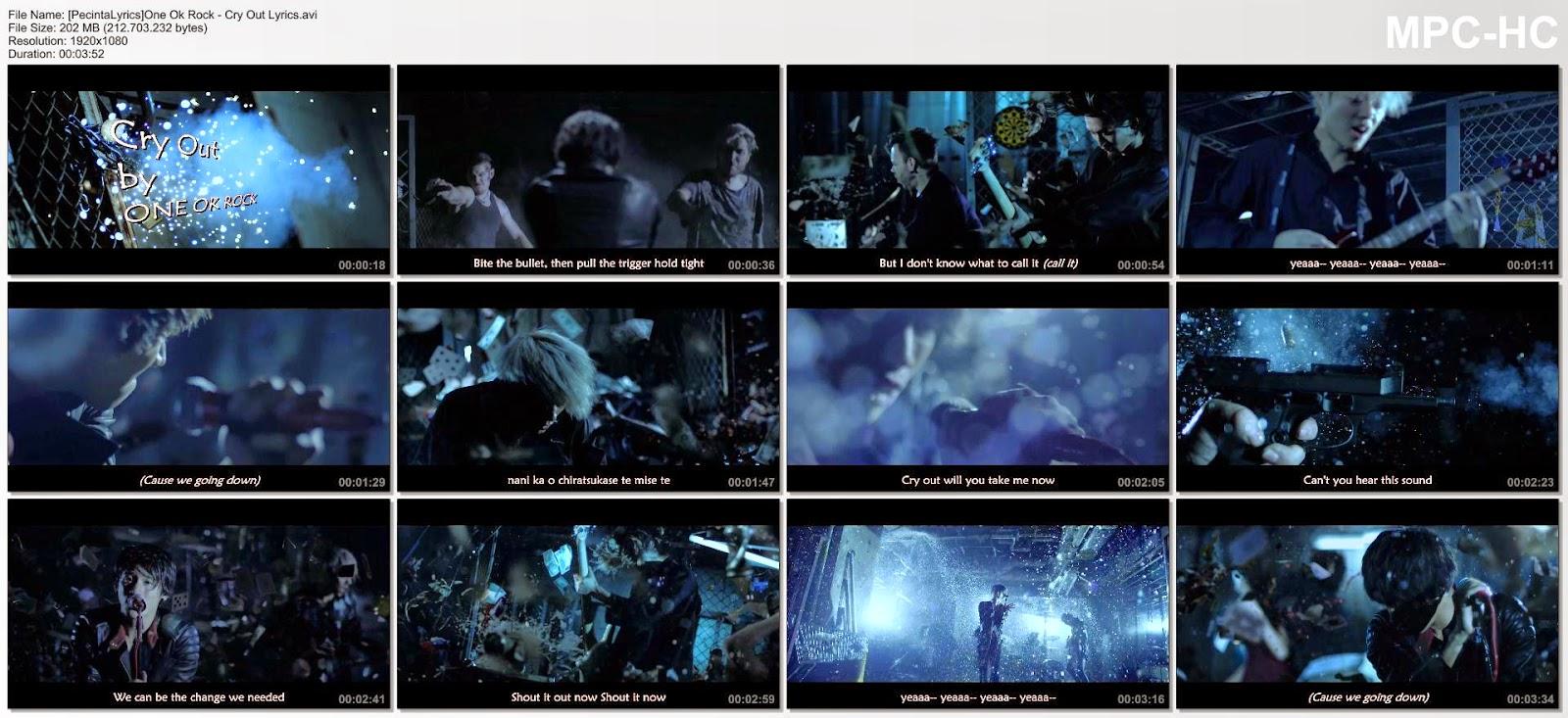 PECINTA LIRIK MUSIK: One Ok Rock - Cry Out with lyrics
