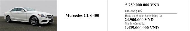 Giá xe Mercedes CLS 400 2019 tại Mercedes Trường Chinh
