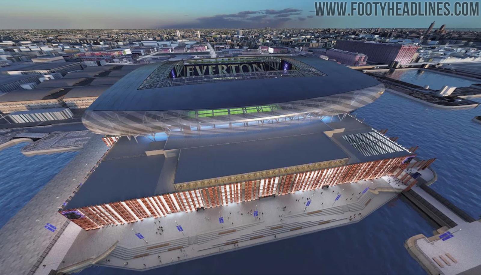 Everton Reveals Final New Stadium Design - Footy Headlines