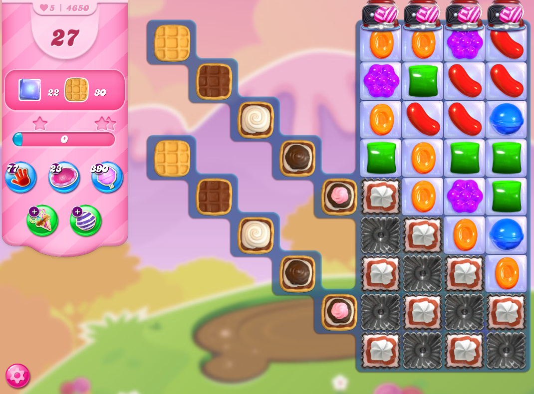 Candy Crush Saga level 4650