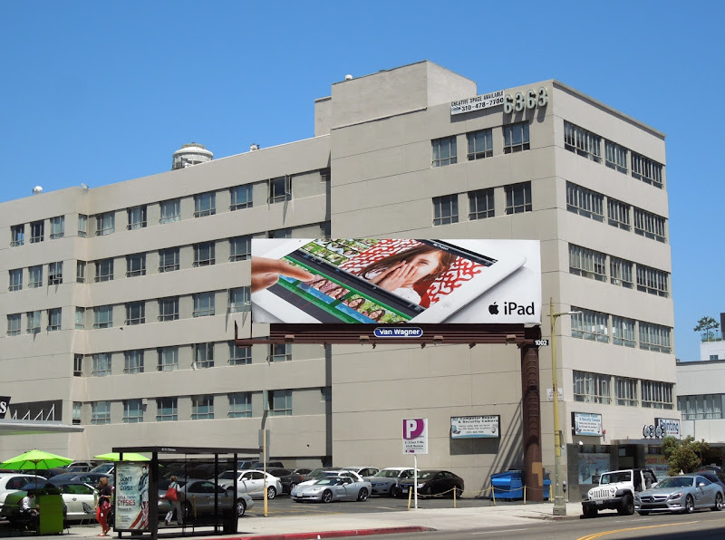ipad 3 girl billboard