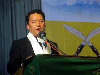 Gorkhaland Territorial Administration chief Bimal Gurung