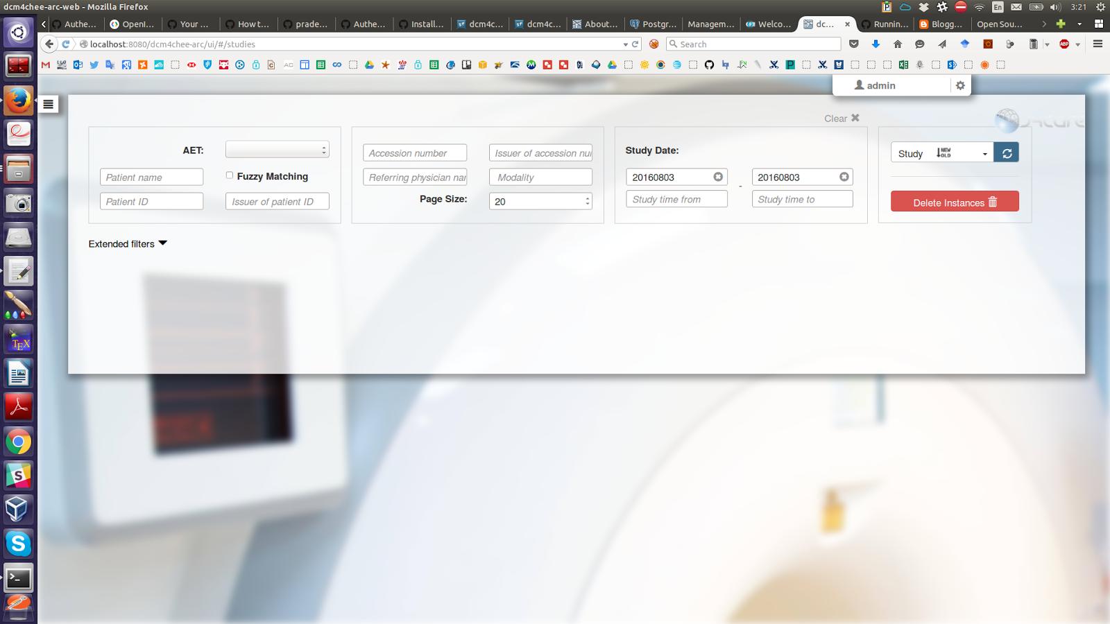 Llovizna: Installing DCM4CHEE using Docker