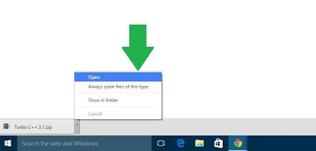 click open