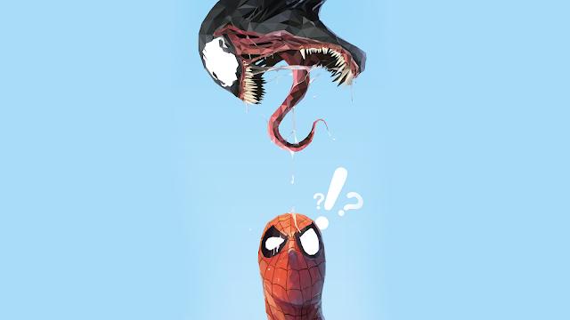 Papel de parede grátis  Spider-Man Venom Minimal para PC, Notebook, iPhone, Android e Tablet.