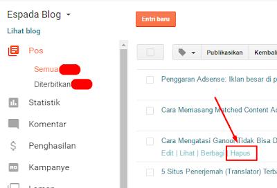 Cara Cepat Menghapus Postingan Blog dari Mesin Pencarian 11