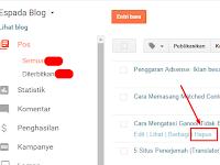 Cara Cepat Menghapus Postingan Blog dari Mesin Pencarian