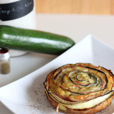 Illustration Quiche Ruban Courgette - Zaatar