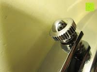 seitlich: Jeking 8 Inch Spiegel Doppelseitiger 1-Fach /10-Fach Vergrößerung Chrom Schlafzimmer Wand Kosmetikspiegel