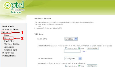 Changing wi-fi password - PTCL modem