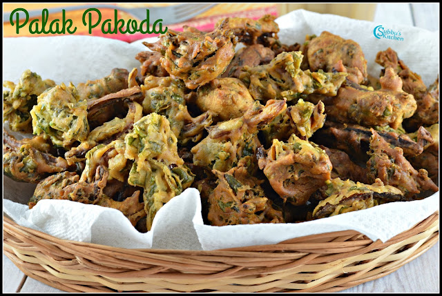 Palak Pakoda Recipe | Spinach Fritters Recipe