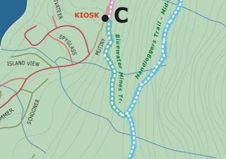 foottoearth: Bowen Hiking 36: Bluewater (Bonanza Mine #1, Crayola
