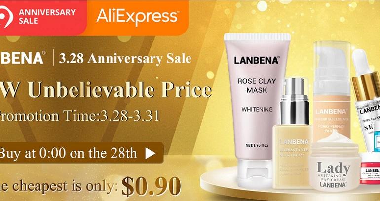 Wyprzedaż kosmetyków Lanbena Aliexpress