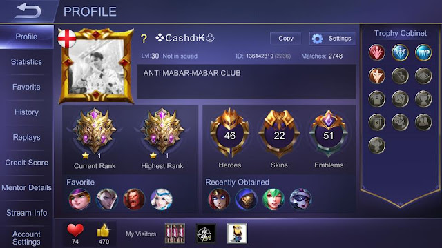 pengalaman solo rank mobile legend