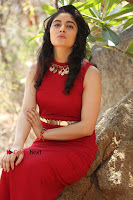 Telugu Actress Zahida Sam Latest Pos in Red Gown at RF Films New Movie Opening  0342.JPG