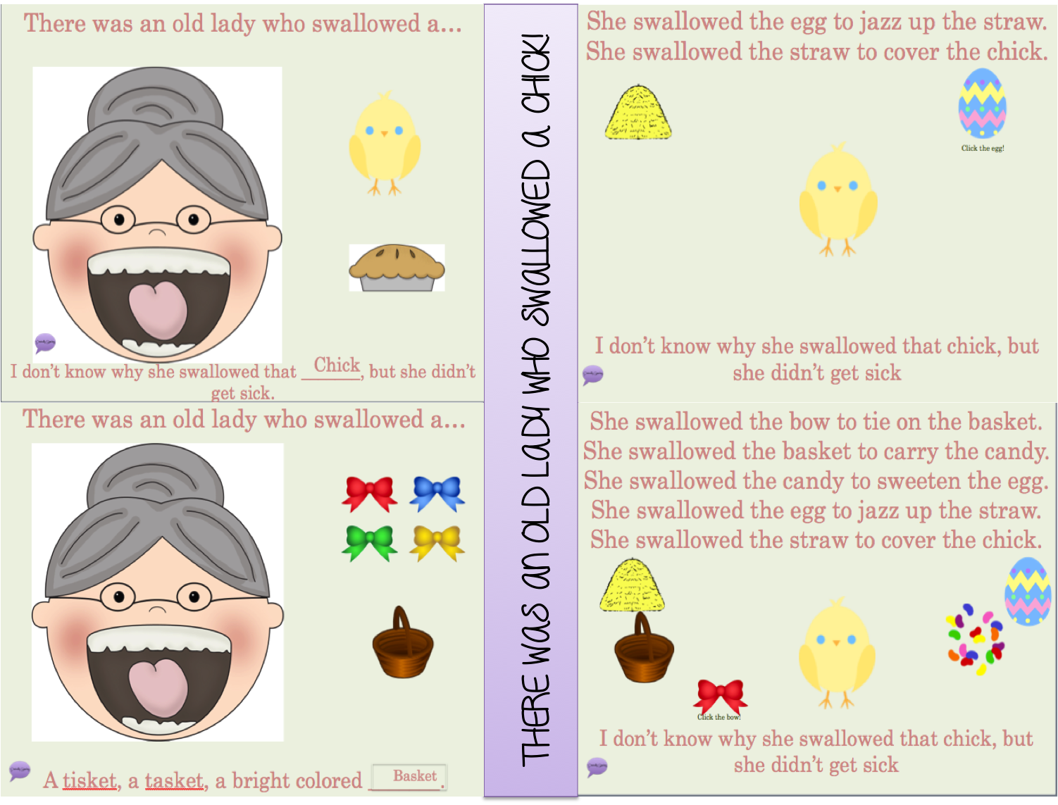 There Was An Old Lady Who Swallowed A Chick Interactive