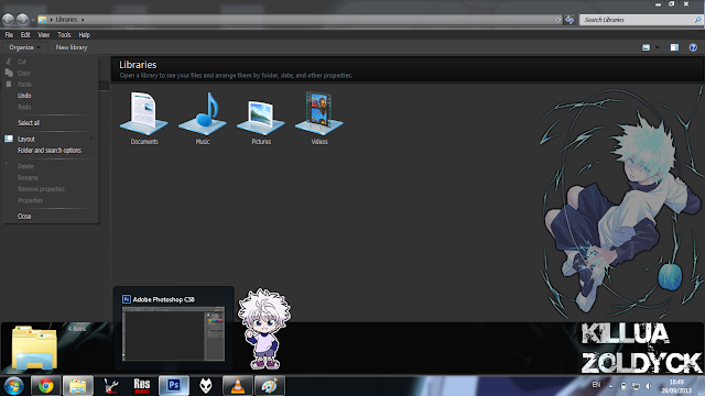 Windows 7 Theme Killua Zoldyck V3 by Bashkara