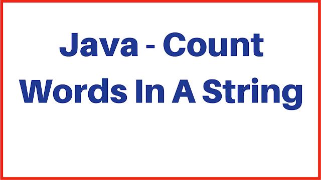 words count in java