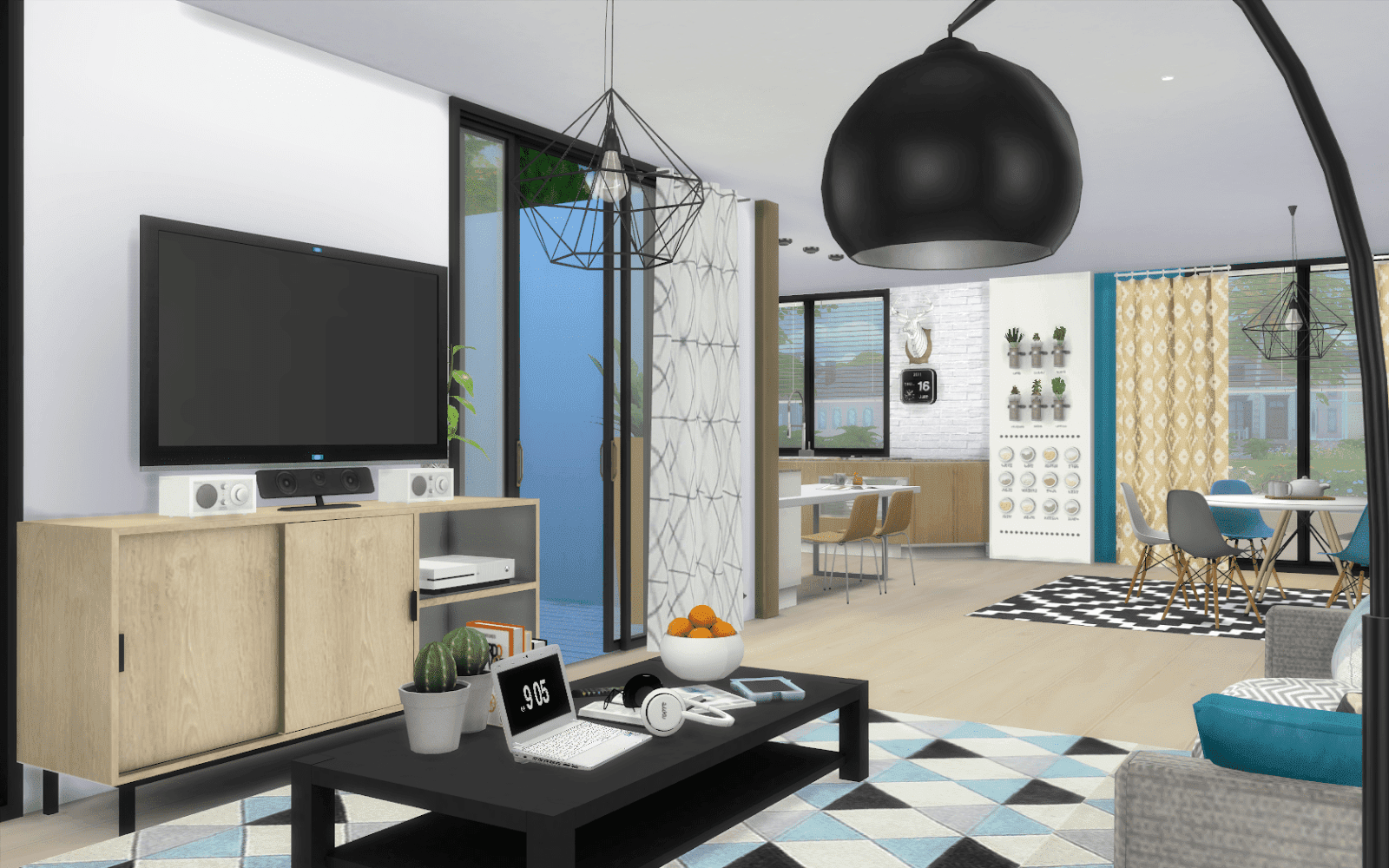 Pavillon ludivka for Decoration maison sims 4