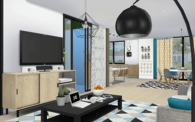 maison décoration moderne sims 4