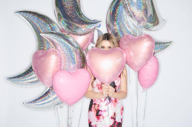 ballons helium argent pailleté