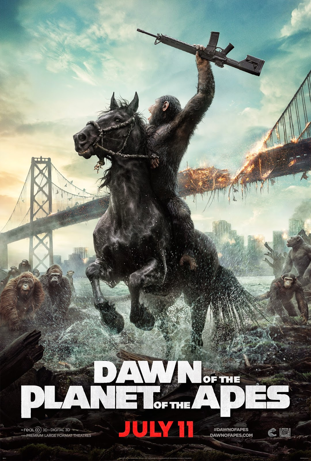 Dawn of the Planet of the Apes 3D Review ~ Ranting Ray's ...