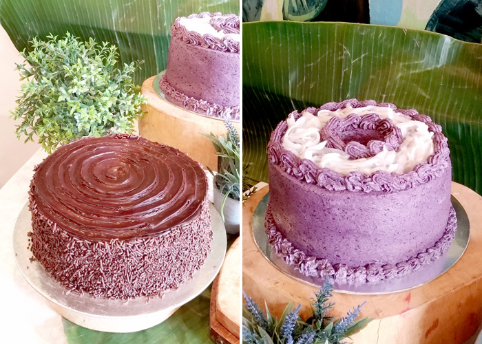 Chocolate Moist Cake and Ube Macapuno Cake