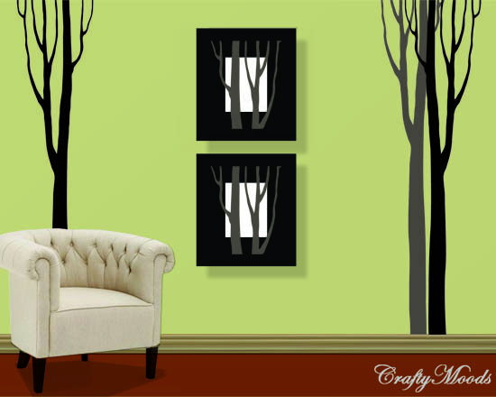 crafts for home decor: diy tree wall decal-free downloadable