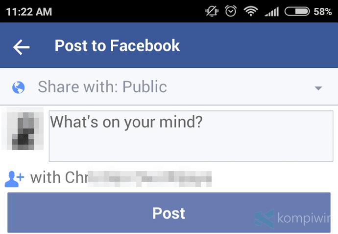 cara post tag facebook