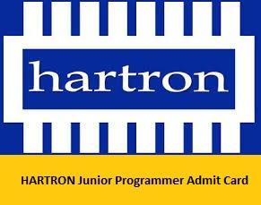 HARTRON Junior Programmer Admit Card