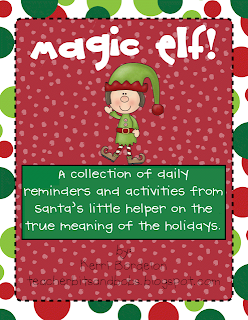 http://www.teacherspayteachers.com/Product/Magic-Elf-Activity-and-Writing-Pack-170476