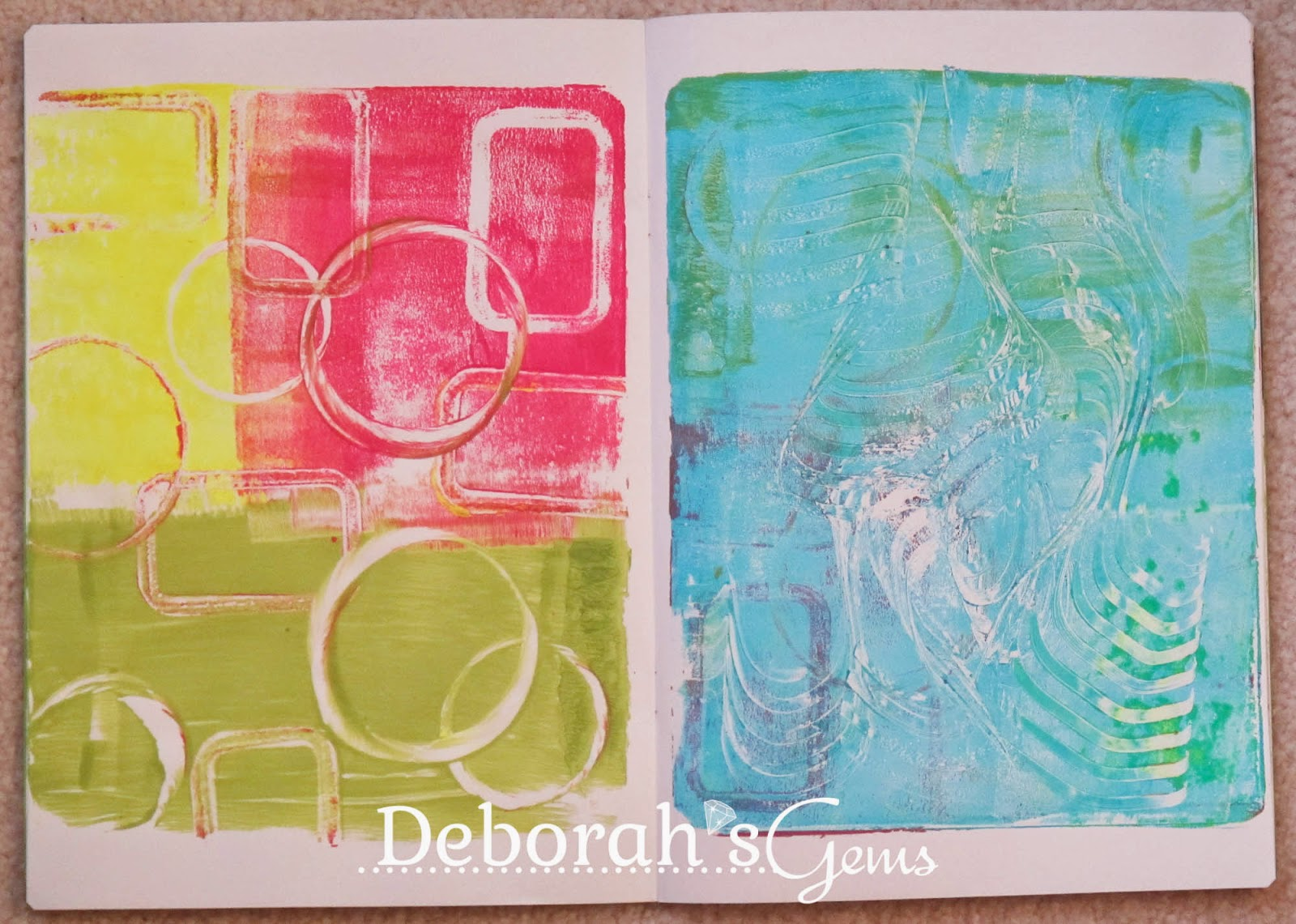 Gelli Journal 2 - photo by Deborah Frings - Deborah's Gems