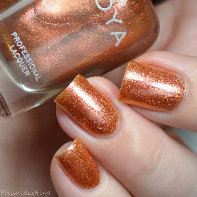 copper metallic nail polish
