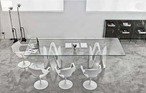 Lambda Large Glass Dining Table Furniture By Glass Domain