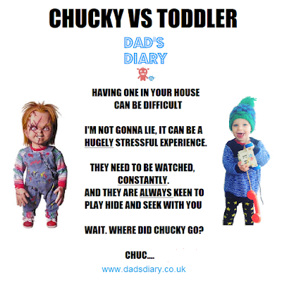 Chucky child's play funny toddler, hide and seek