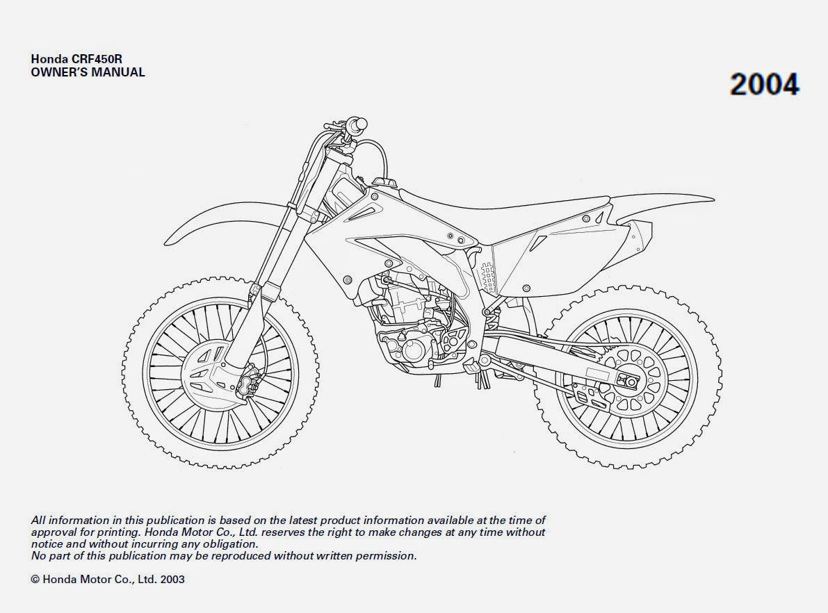 TIPS de Mecanica en General: Manual Honda CRF 450 05-08