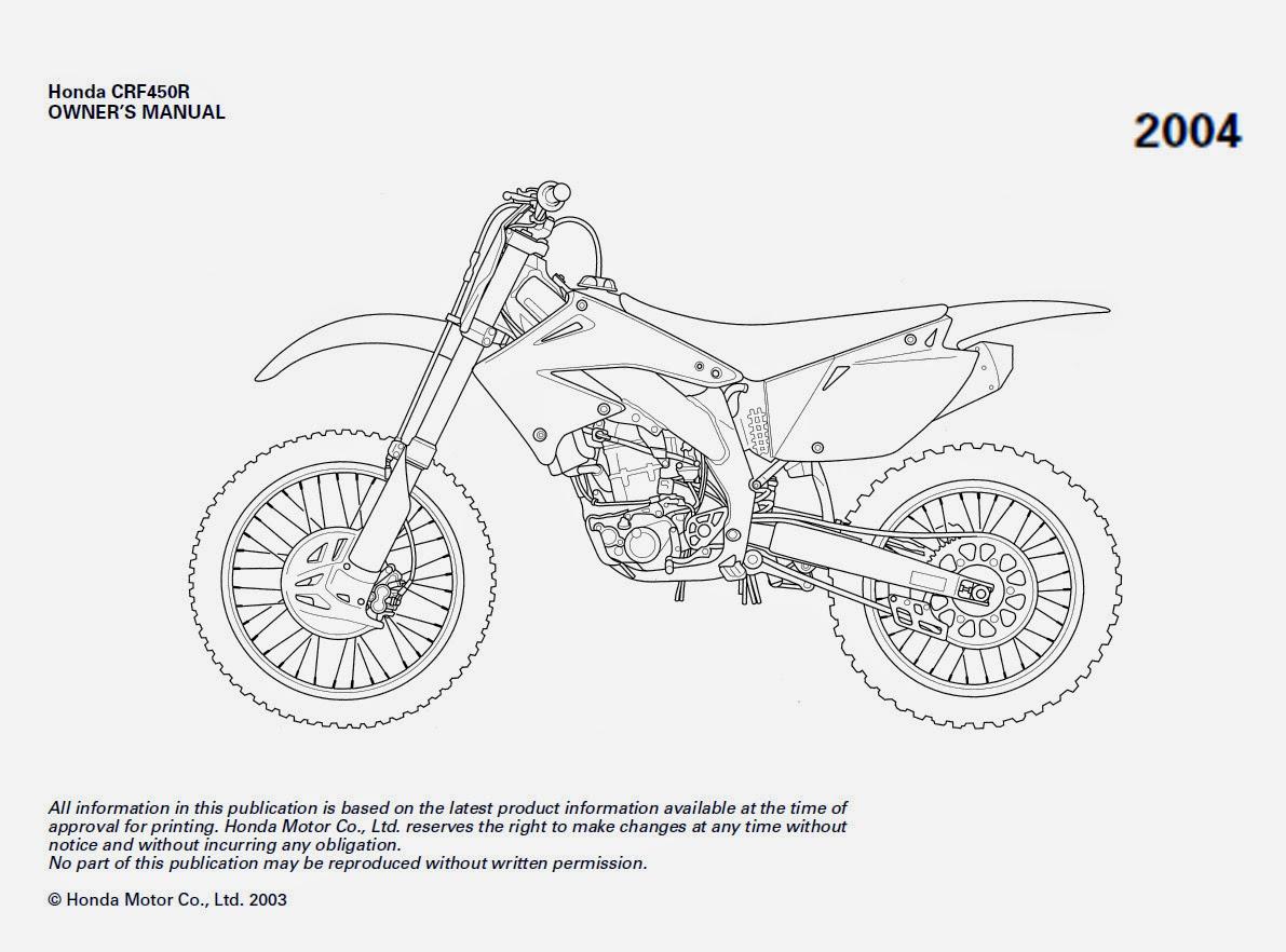 05 Honda Crf450r Service Manual