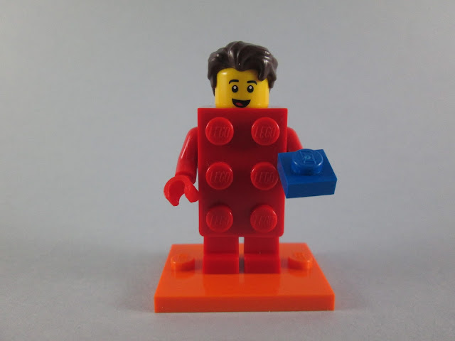 Minifiguras LEGO Brick Suit Guy & LEGO Brick Suit Girl da nova serie LEGO de minifiguras 71021 Series 18 - Party