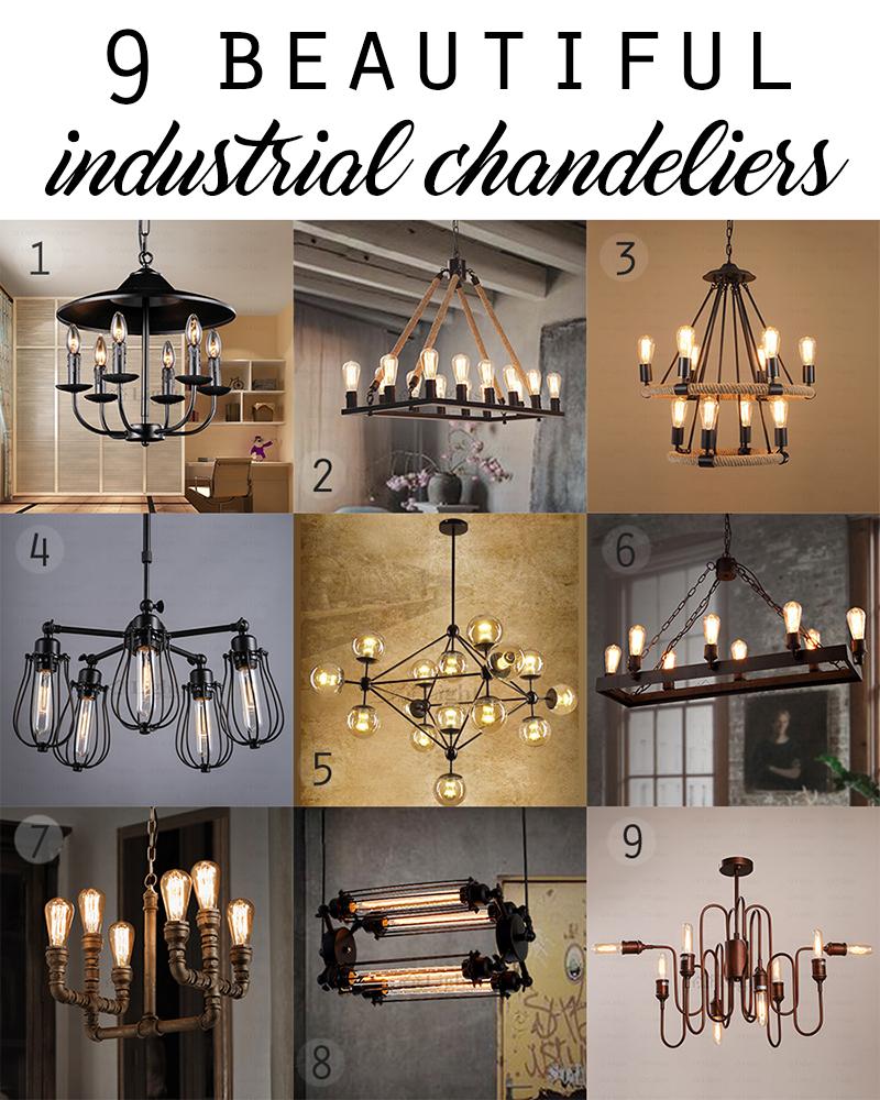 home decor ideas 9 beautiful industrial chandeliers