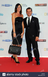 Loris Capirossi And Wife Ingrid News And Sports Personalities Attending JM HE