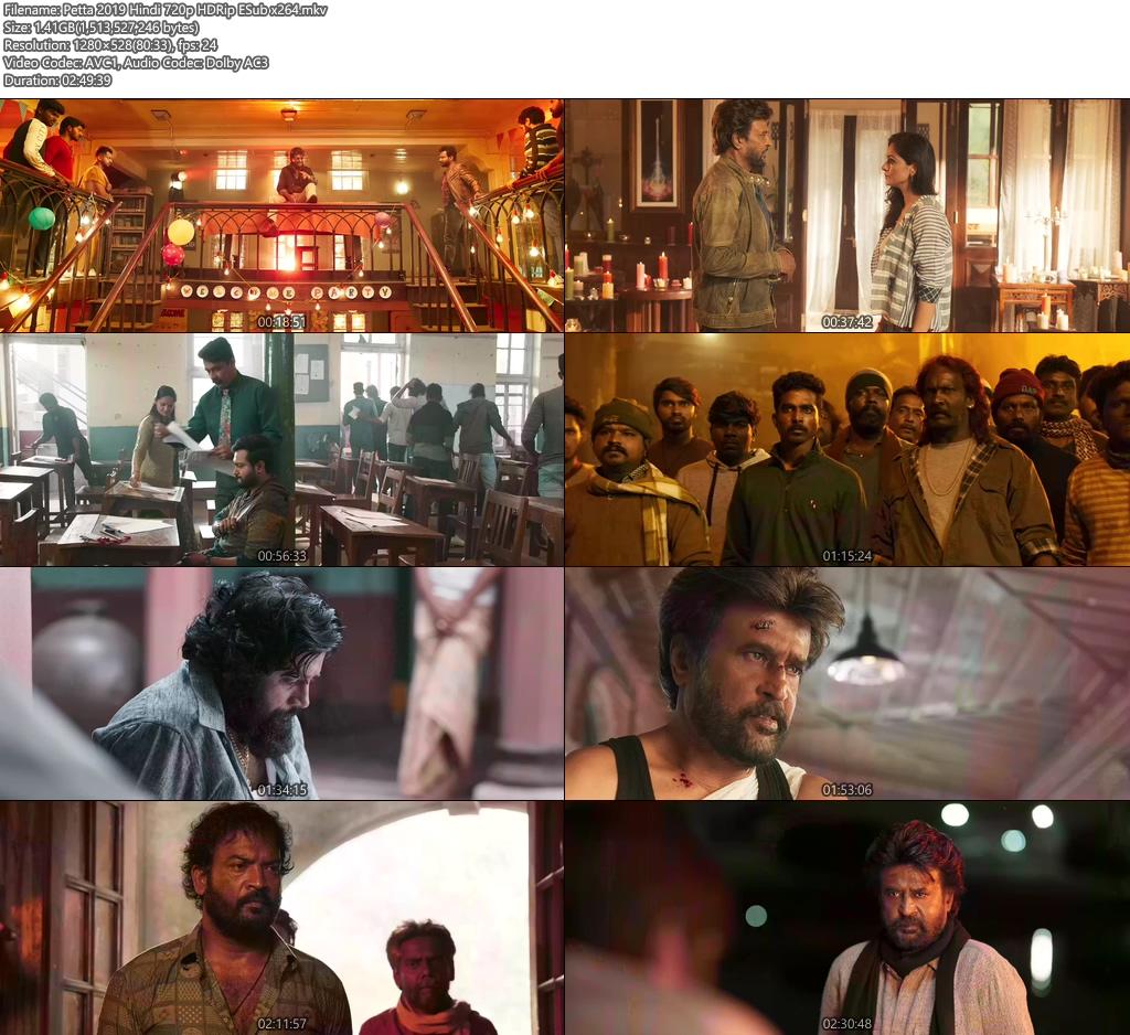 Petta 2019 Hindi 720p HDRip ESub x264 | 480p 300MB | 100MB HEVC Screenshot
