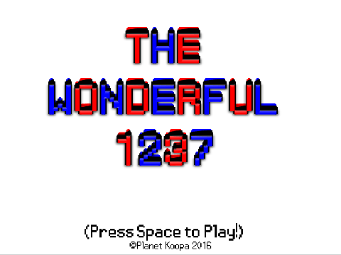 The Wonderful 1237 title screen splash