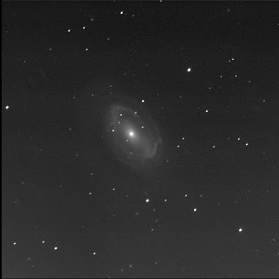 RASC Finest galaxy NGC 4725 in luminance