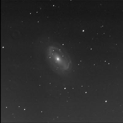 RASC Finest galaxy NGC 4725 in luminance