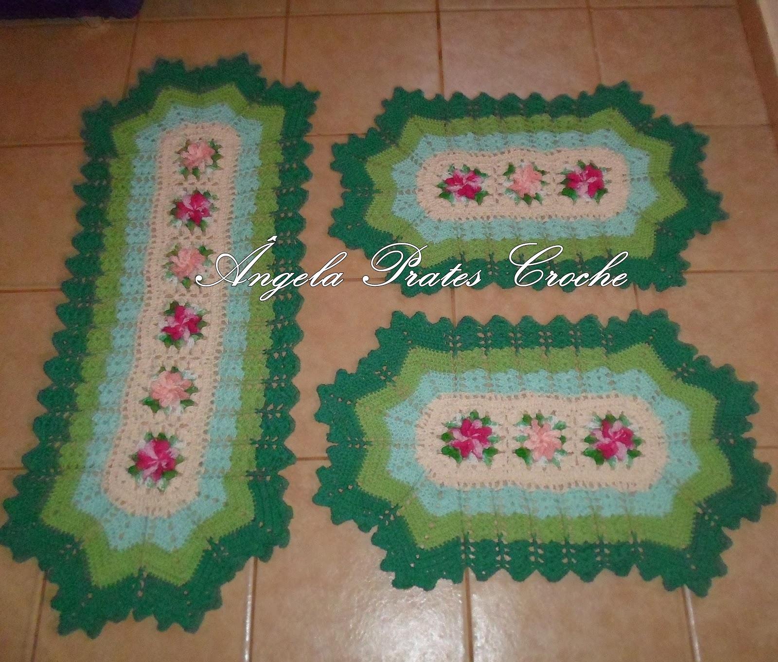 bc3c09d359 Cozinha Em Verde Limão Jogo De Cozinha 3 Pçs Verde Musgo  Ângela Prates  Croche  Jogo De Cozinha Em