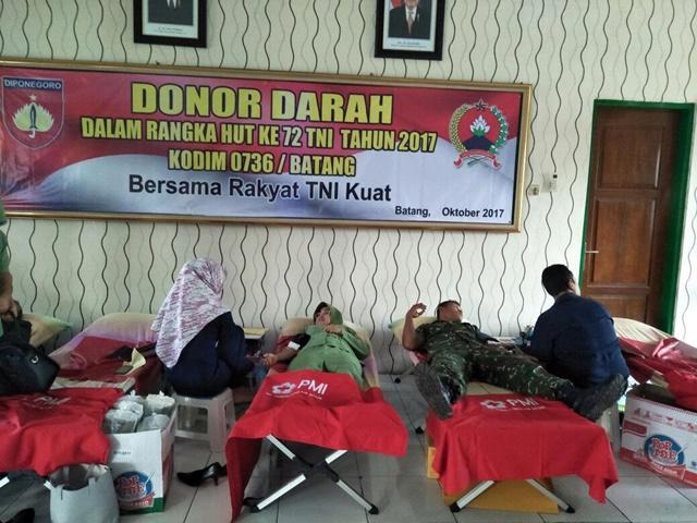 Donor Darah di Kodim Batang