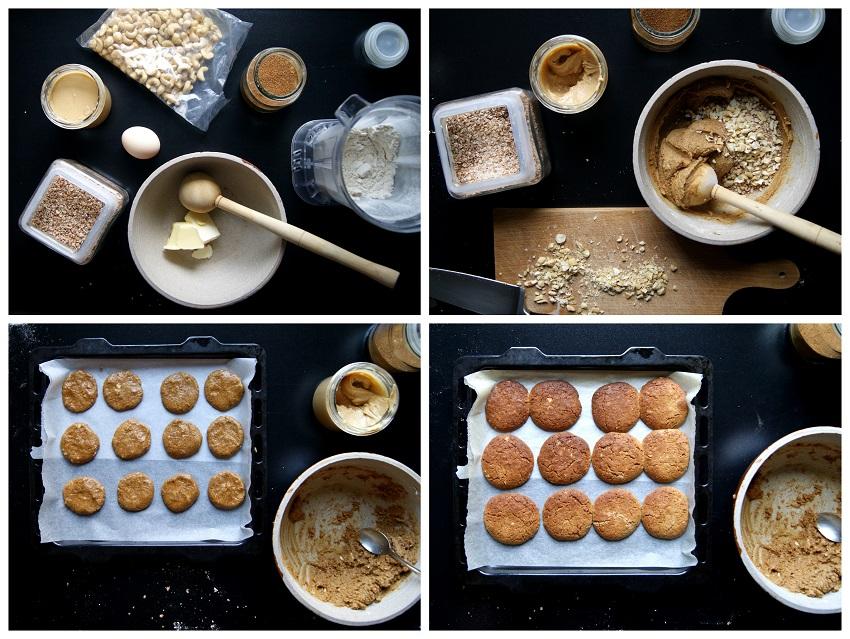 Ciasteczka gryczane z  masłem orzechowym