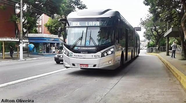 Linha 189L Lapa - Vila Iorio - Foto: Aílton Oliveira - Mobilidade SP