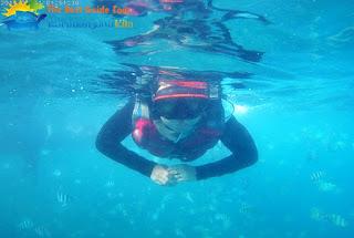 wisatawan snorkeling karimunjawa