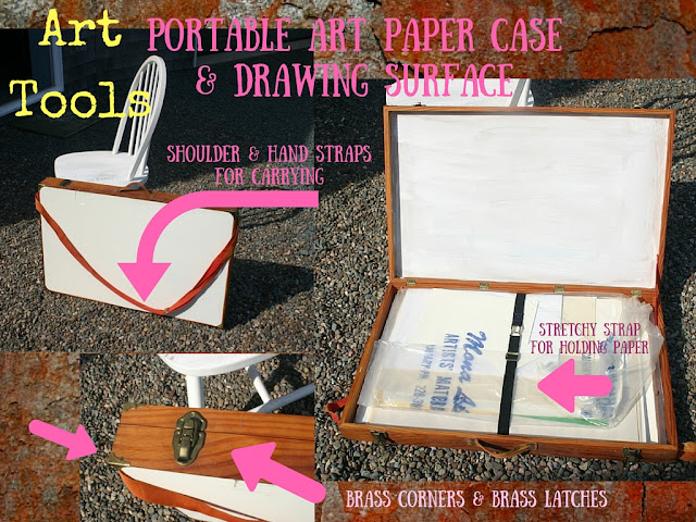 Portable Art Case for drawing paper and surface.